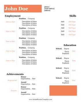 Resume samples high school students no experience